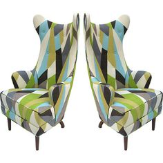 Mid 20th Century Milano Armchairs. I would totally dress up at a harlequin to sit on these ;)