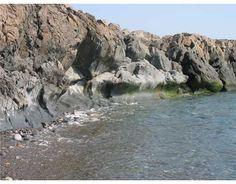 Machiasport. Maine's rocky shore.