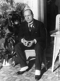 Italian fascist dictator Benito Mussolini. (Photo by Topical Press Agency/Getty Images). November 1922