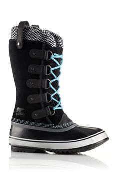 The Walking Girl's Guide To Winter Boots #refinery29 From Sorel - The electric blue laces here give this stomper a little something extra.