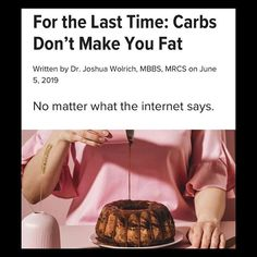 most people don't actually know what carbs are. We talked to Dr. Joshua Wolrich about 'good' vs 'bad' carbs, how our body uses carbs for energy, and why they've gotten such a bad rap. Our Body, Jojoba Oil, Health Tips, Rap, Advice, Make It Yourself, Baking, People, Food