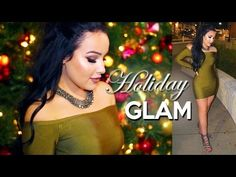 Holiday Glam Makeup Tutorial + Outfit 2015 - YouTube