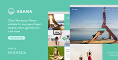 Buy Asana - Sport and Yoga WordPress Theme by HighSea on ThemeForest. Asana is a clean, flat and modern WordPress theme suitable for any type of sport and dance studios, gyms, health club. Pilates, Sport Studio, Event Agency, Meditation, Web Design, Fitness Gym, Business Articles, Social Icons