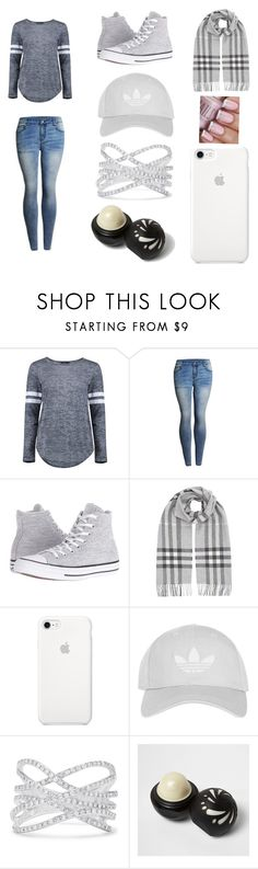 """""""casual"""" by mhaze-1 on Polyvore featuring Boohoo, Converse, Burberry, Topshop, Effy Jewelry and River Island"""