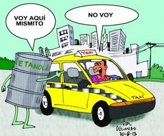 Etanol go home | Caricatura de Delmiro
