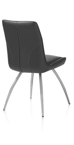 Jessy dining chair in Catania leather. Available Xooon in 6 colors