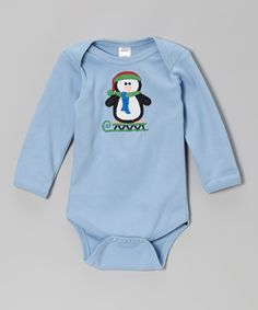 Look at this Blue Sled Penguin Bodysuit - Infant on #zulily today!