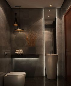This restroom design includes simplicity, practice, modernity, simplicity, modernity and even high-end. All recommended for those that want to dream in the house in the restroom Contemporary Kitchen Inspiration, Contemporary Home Decor, Contemporary Bathrooms, Bathroom Inspiration, Contemporary Design, Farmhouse Contemporary, Contemporary Stairs, Contemporary Landscape, Contemporary Building