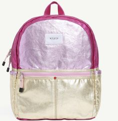 e262fc040570 metallic gold and pink State backpack at Whimsies Backpack Purse