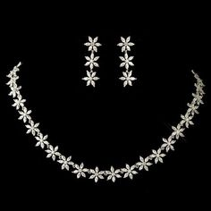 Bridal Jewelry Enchanting Floral Marquise CZ Rhodium Plated Wedding Jewelry Set - Affordable Elegance Bridal - - Floral Rhodium Plated Wedding jewelry with Marquise CZ Crystals. Crystal Jewelry, Beaded Jewelry, Fine Jewelry, Silver Jewelry, Silver Ring, Silver Earrings, Onyx Necklace, Dainty Jewelry, Resin Jewelry