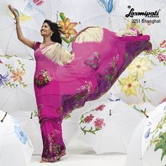 Touch a  sky... this feeling emerge when you drape this mixture of leheriya & floral prints.