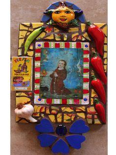 """Large Retablo  """"San Pasqual""""  Mosaic"""