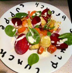 Salad d'hiver avec une mousse au fromage de chèvre  From the little Paris kitchen