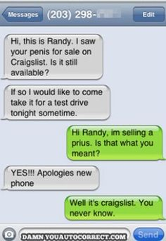 Autocorrect Fails and Funny Text Messages