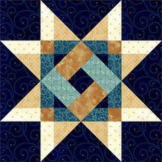 Plaid Star. Pam Bono block design. Pattern no longer available.