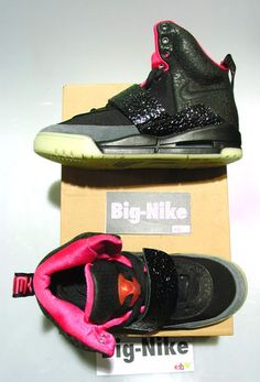 info for f8652 041f1 NIKE AIR YEEZY SIZE 7US- EU40 Black Pink 2009 RARE KANYEWEST 2012 yeezy 2  LEBRON  2k