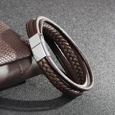 Jiayiqi Fashion Genuine Leather Bracelet Men Stainless Steel Bracelets Braided Rope Chain for Male Jewelry Vintage Gifts-in Charm Bracelets from Jewelry & Accessories on Aliexpress.com | Alibaba Group