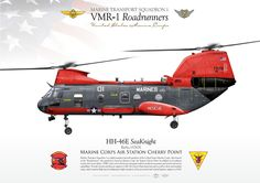 "UNITED STATES MARINE CORPS MARINE TRANSPORT SQUADRON 1 (VMR-1) ""Roadrunners"" Marine Corps Air Station Cherry Point"