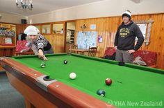 Free pool at Purple Cow YHA, Wanaka, New Zealand