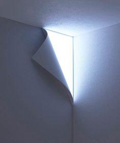 Peel Lamp – Lift one corner of the wall towards the light | Ufunk.net