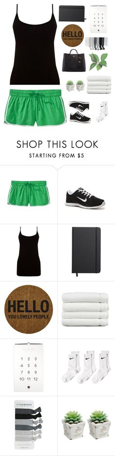"""Workout - Taylor Swift inspired ♥"" by irish-eyes-were-smiling ❤ liked on Polyvore featuring Old Navy, NIKE, Oasis, Shinola, Bloomingville, Linum Home Textiles, Prada, GetTheLook and taylorswift"