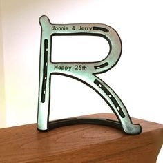 Items similar to HORSESHOE Letter B initial, wedding gift. Standing, hanging, cake topper, or hook on Etsy Horseshoe Letters, Horseshoe Projects, Horseshoe Crafts, Horseshoe Art, Horseshoe Decorations, Welding Works, Metal Welding, Welding Art, Welding Projects