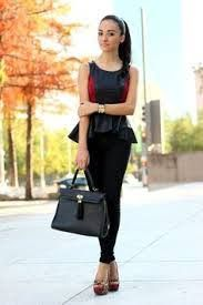 Image result for peplum blouse outfit ideas