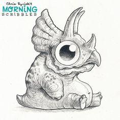 Lil' Ceratops. #morningscribbles | par CHRIS RYNIAK