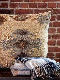 Burlap, Reusable Tote Bags, Throw Pillows, Cottage, Home, Toss Pillows, Hessian Fabric, Cushions, Cottages
