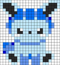 Baby Glaceon Perler Bead Pattern / Bead Sprite