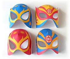 Cinco de Mayo Party Printables for the photo booth! Nacho Libre, Crafts For Kids, Arts And Crafts, Paper Crafts, Mardi Gras, Wrestling Party, Mexican Party, Mexican Birthday, Mask Template