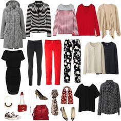 Love all but the coat, upper left, and the shoes. Just flats, flip-flops and lower heels for me.