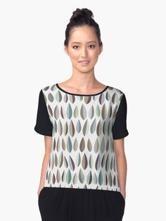 Little leaves - Collection 2 by Dominiquevari  I    Muted graphic leaves pattern to celebrate Fall  I   Pure and minimal, a contemporary design with a retro feel      I    Also buy this artwork on apparel, stickers, phone cases, and more   I    #fashion #chiffontop #graphic #leaves #tonal #autumnal #stylish #modern #retro #Redbubble #dominiqueVari