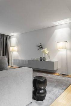 Casa em Braga: Salas de estar modernas por Casa MARQUES INTERIORES Tv Unit Design, Entrance, Living Room Decor, Pergola, Sweet Home, Decoration, House, Furniture, Home Decor
