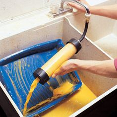 How cool is this??? It cleans paint rollers for you!!! $15