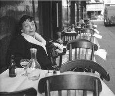 "axsbp: ""  Marguerite Duras by Robert Doisneau, 1955 """