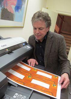 René Alleman van De Nieuwe Grafische print speciaal drukwerk voor 'Lunch for de Brain'