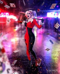 Margot Robbie - Harley Quinn by kaethor on DeviantArt Joker Y Harley Quinn, Harley Quinn Drawing, Harley Quinn Cosplay, Arlequina Margot Robbie, Margot Robbie Harley Quinn, Dc Universe, Harley Quenn, Dc Comics, Catwoman Cosplay