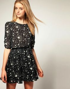 FASHION WINTER RECIPE ( 1^ parte )  romantic stars dress www.theshadeoffashion.blogspot.it