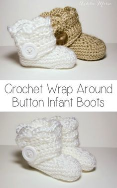 You will love these Crochet Button Baby Booties and they are a fabulous free pattern. Be sure to watch the video tutorial too.