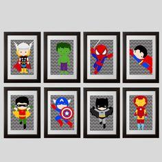 Superhero Wall Art 50% off! superhero nursery, superhero wall art, superhero baby
