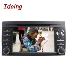 Idoing 2Din Steering Wheel For Porsche Cayenne Car Multimedia DVD Player Android GPS Navigation Video WIFI SWC Dual Head Stereo