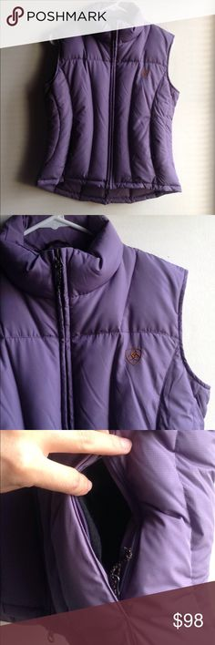 Women's Ariat puffer vest Gorgeous pastel purple nice thick puffer. Worn once. Like new condition. Ariat Jackets & Coats Vests