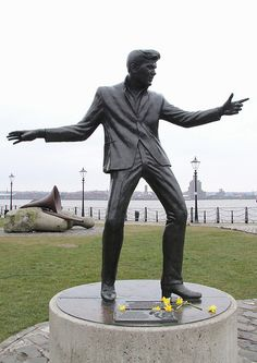 Billy Fury statue at Albert Dock, Liverpool