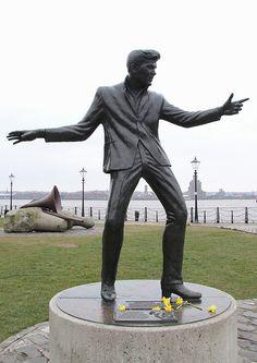 Billy Fury statue at Albert Dock, Liverpool