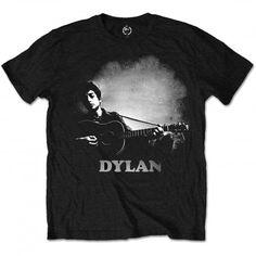 Tricou Bob Dylan: Guitar And Logo - MetalHead Merch Guitar Logo, Guitar Amp, High Quality T Shirts, Band Shirts, Bob Dylan, Direct To Garment Printer, Printed Shirts, Shirt Style, Logos