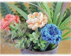 Items similar to PATTERN Rose Flower - Lovely Crochet Stem Instructions - Yarn Floral Bloom on Etsy Half Double Crochet, Single Crochet, Making A Bouquet, Succulents In Containers, Pony Beads, Cotton Lights, Carnations, Digital Pattern, Flower Vases