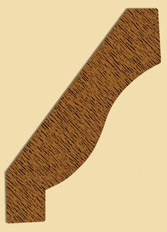 Premium Quality Wood Crown Mold 345, Ogee Crown