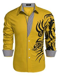 Coofandy Men's Fashion Print Dress Shirt Casual Cotton Bu... http://www.amazon.com/dp/B01E6H78B6/ref=cm_sw_r_pi_dp_Bdhixb0E92XVW