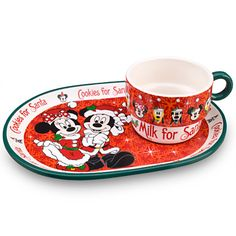 Minnie and Mickey Mouse Plate and Mug Set | Disney Parks Authentic | Home & Decor | Holiday | Disney Store
